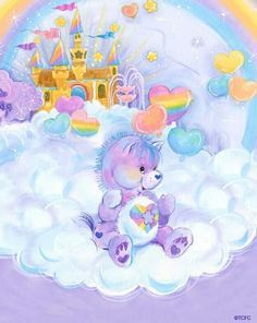 Welcome to Care-A-Lot, that little place in the clouds where the Care Bear family resides. Here you can find gifs, artwork both old and new, the music of Care-A-Lot, and random trivia about the Care Bears and Care Bear Cousins.