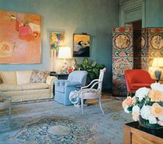 Amanda & Carter Burden's Drawing Room, photo by Horst for Condé Nast.