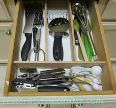 Restoration Beauty: DIY Wooden Drawer Organizing Dividers  www.KOClutter.com