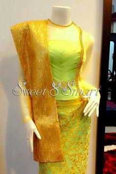 Myanmar dress Myanmar Traditional Dress, Traditional Dresses, Myanmar Dress Design, Elegant Dresses, Formal Dresses, Wedding Dresses, Myanmar Women, Indian Skirt, Ankara Styles