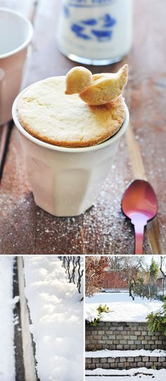 """cut out shortbread with the cup you are serving it with and top with a little bird.  pop on top of a cup after baked and smear on some jam/Nutella...    y voila... il est une """"bird bath / mug lid"""""""