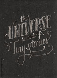 The Universe. Yummy lettering.