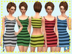 Knitted Beach Dress at Just For Your Sims • Sims 4 Updates