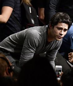 Dylan O'Brien..looks like it might be from SDCC.