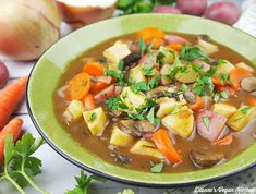 Cozy up to a bowl of vegan Irish Stew. Loaded with vegetables and easy to make, this dish is perfect for dinner on chilly evenings. It's a great dish for St. Patrick's Day, too!