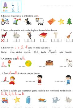 Le son l Learning French For Kids, Teaching French, Montessori Preschool, Preschool Letters, French Language Lessons, French Lessons, Teaching Tools, Teaching Resources, French Education