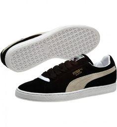 91ffc7710b7 Tênis Puma Men s 352634-03 Suede Classic Sneakers Black White  Tênis  Puma