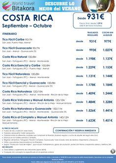 Seleccion COSTA RICA: Septiembre y Octubre desde 931€ + tasas ultimo minuto - http://zocotours.com/seleccion-costa-rica-septiembre-y-octubre-desde-931e-tasas-ultimo-minuto/