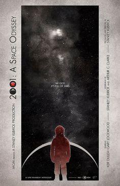 Original Giclee Art Print '2001: A Space Odyssey' by DigitalTheory