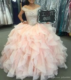 Crystal Quinceanera Dresses Off the Shoulder Designed Major Beading Bodice With . - - Crystal Quinceanera Dresses Off the Shoulder Designed Major Beading Bodice With Draped Ball Tulle Prom Gowns Lace-up Special Occasion Dresse Source by lilibelt Quince Dresses, Ball Dresses, Ball Gowns, Girls Dresses, Prom Dresses, Chiffon Dresses, Bridesmaid Gowns, Long Dresses, Tulle Ball Gown