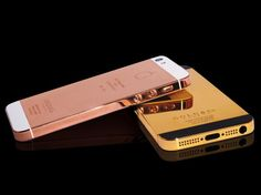 Gold and Rosegold iPhone cover