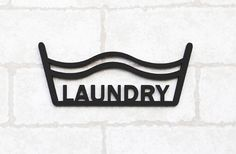 """Amazon.com: Door Sign Made Of Birch, """"Laundry"""" / Small Size 5.8"""" x 2.5""""x 0.1T, 10 Design Type 10 Type, Dress Room, Bed Room, Bath Room, Kitchen, Study Room, Laundry, Kids Room, Office, Toilet, Play Room (Laundry): Home & Kitchen"""