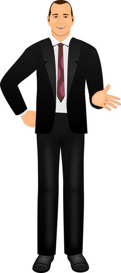 Customized illustration male avatar for eLearning with Adobe Captivate, Articulate Storyline, and Techsmith Camtasia.