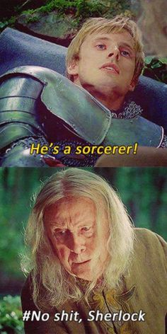 I probably shouldn't have, but I laughed SO HARD at this scene Arthur sort of secretly called Gaius over and tried to tell him, like of ALL people, Gaius wouldn't know..