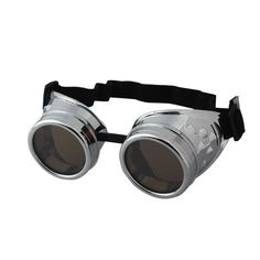 Vintage Style Steampunk Goggles Welding Punk Glasses Cosplay/Silver