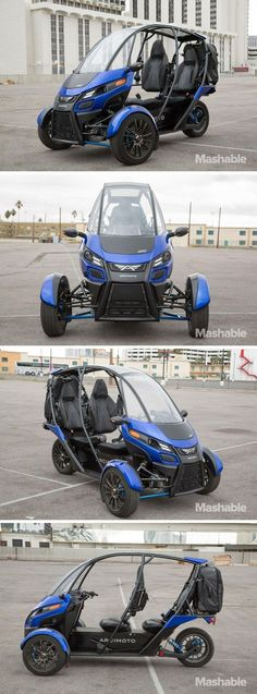The Arcimoto SRK is a a three-wheeled, all-electric motorcycle