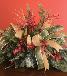 Shop Festive Pine Basket Arrangement & Arrangements at Joann.com