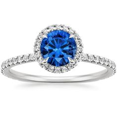18K White Gold Sapphire Waverly Diamond Ring from Brilliant Earth