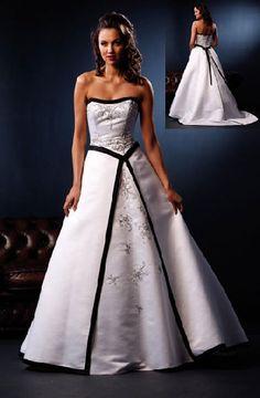 black and white corset wedding dresses. neckline, shape. need diamond straps, shawl.softer than this fabric.