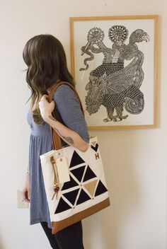 I'm not particularly into geometric things but I love these new totes from Made by Hank.