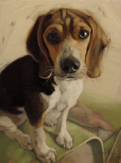 Hoeptner Year in Review plus Molly the Beagle, painting by artist Diane Hoeptner