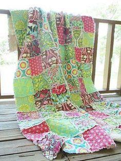 patchwork z charm packu Amy Butler z kolekcji Soul Blossoms