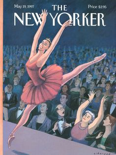 """The New Yorker - Monday, May 19, 1997 - Issue # 3752 - Vol. 73 - N° 12 - Cover """"The Fan"""" by Robert Sikoryak"""
