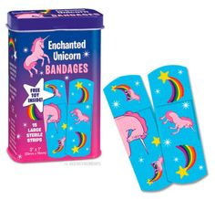 Enchanted Unicorn Bandages - Band-aids de Unicórnios . . . These would be great for the pinata!