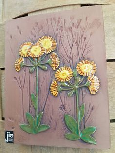 Lovely floral Jie wall plaque in ceramic from Sweden