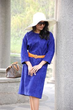 LovePlayingDressup , Derby Fashion, Derby hat, colbalt blue