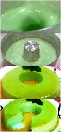 PUDIM VERDE LIMÃO receitinha prática e deliciosa! #pudim #limao #facil #verde #sobremesa #receita #gastronomia #culinaria #comida #delicia #receitafacil