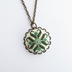 Green necklace, Boho green pendant necklace, green jewelry, Christmas gift for wife, necklace for wo Green Tassel Earrings, Green Necklace, Pendant Necklace, Christmas Gifts For Wife, Green Pendants, Dainty Diamond Necklace, Boho Green, Green Gifts, Fabric Jewelry