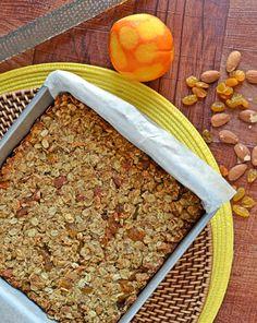 Almond Orange Granola Bars Healthy homemade granola bar recipe 1 {Friends First with The Law Students Wife} Orange Almond Granola Bars