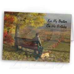 Autumn Companions - Birthday Card for Brother