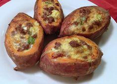 Breakfast Sweet Potato Boats