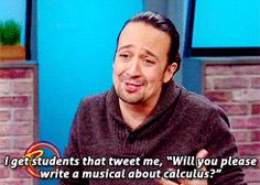 THE RACHAEL RAY SHOW ~ Lin-Manuel Miranda, writer/composer and star of the Broadway musical HAMILTON. [GIF]