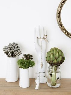 Nice artichoke! I like the idea of displaying pretty dinner components before you eat them.