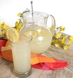 Homemade lemonade recipe!  Single serving recipe as well!