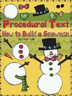 HOW TO BUILD A SNOWMAN is a fun way for your students to tackle How To Writing....Here is what's included in the mini unit:Mentor Text SuggestionHow To Writing Paper (2 different types)How to Make a Snowman CraftifityHow to Make a Snowman Word Search for early finishersCheck out some other products from my store:Vowel Teams ~ Write the Room {With Fun Extension Activities}R Controlled Vowels Write the Room ~ With 4 Extension ActivitiesWinter Incentive Pack ~ Punch Cards, Awards, Bookmarks…