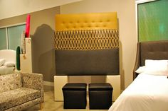 Gray and yellow upholstery options at Skyline in showroom High Point Market, Spring 2015, Showroom, Upholstery, Skyline, Gray, Yellow, Furniture, Tapestries