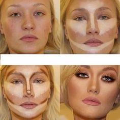How To Contour...wow this is crazy what they do w makeup.  gentlemen beware of what your lady actually looks like... See entire tutorial NOW