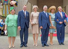 King Philippe and Queen Mathilde attends celebrations marking the 200th anniversary of the kingdom of The Netherlands on 30.08.2014 in Maastricht, The Netherlands.