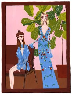 Illustration.Files: Gucci Resort 2016 Fashion Illustrations by Bijou Karman Part 2