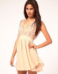 ASOS skater dress with embellished top