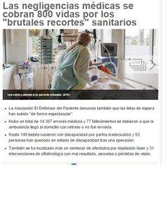 Negligencias médicas - recortes - sanidad