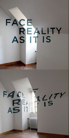 Optical illusion painted on the wall ~ depends on where you are at in the room...angle is everything!
