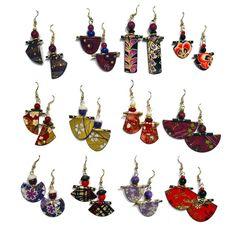 Paper Earrings - Carole Grandy, A Folding Fool | Touchstone Gallery
