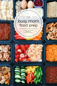 This Busy Mom Food Prep guide shows you how easy it is to prep some meals and snacks the whole family will love. Yes, even those picky eaters!