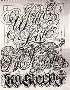 Boog Name Game Tattoo Script Lettering Gangster Book Ebay