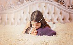 Newborn Headband Rhinestone Headband Baby by NewbornPhotoProp